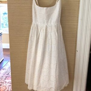 J Crew white eyelet size 6 dress